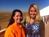 Carri Wilbanks with Public Relations Coordinator at the Wild Animal Sanctuary, Katie Vandergrift. 