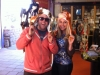 Carri Wilbanks and Todd Metcalf explore the gift shop at the Wild Animal Sanctuary 