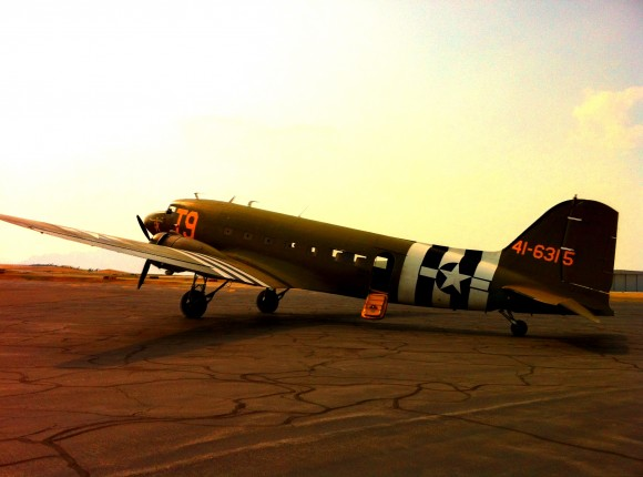 This C-47 is the only plane in the country still in operation with gun ports.