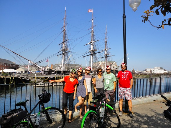 The Tour De Boston lands you in front of landmarks like the USS Constitution