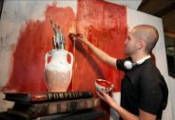 Artist Jonathan Saiz creates Phaeton to recreate Pompeian Art