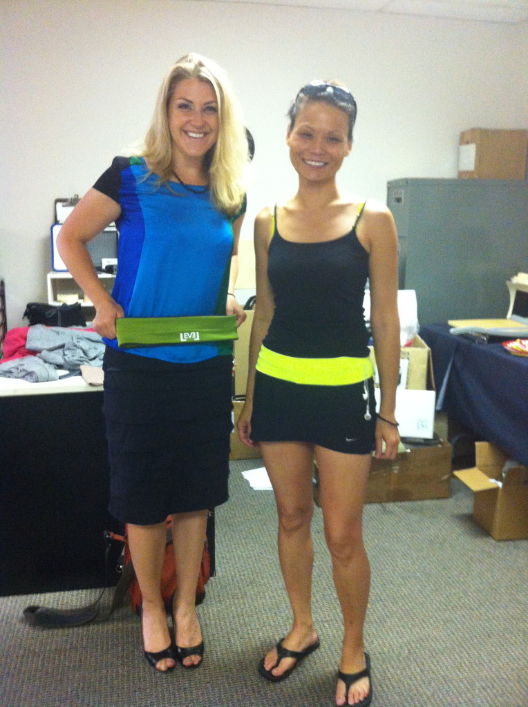 Carri Wilbanks with Mia Do, creator of the Flip Belt