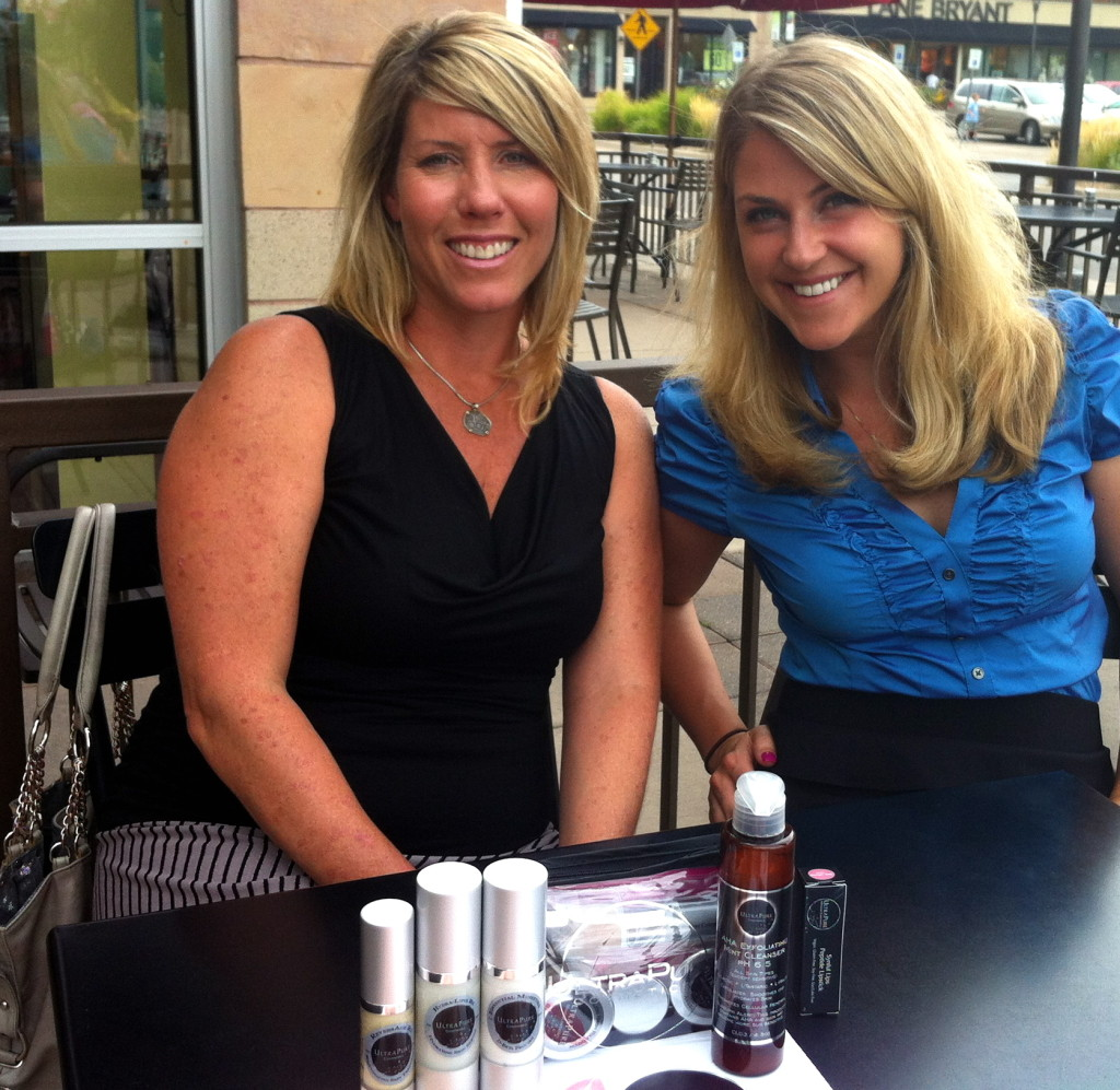 Carri Wilbanks with founder of Ultra Pure Cosmetics, Tracy Marshall