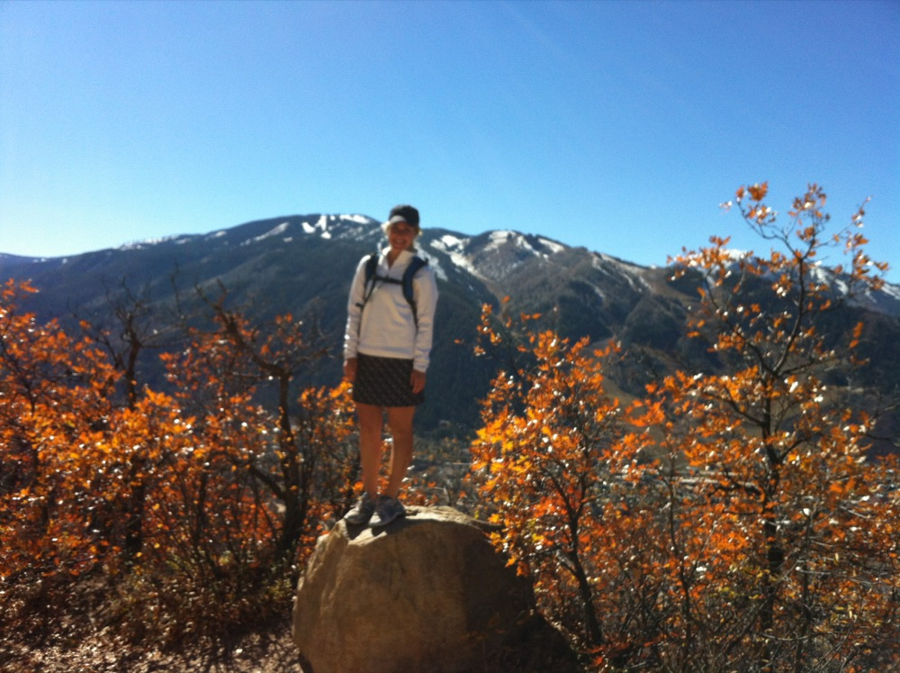 Carri Wilbanks hiking in Aspen