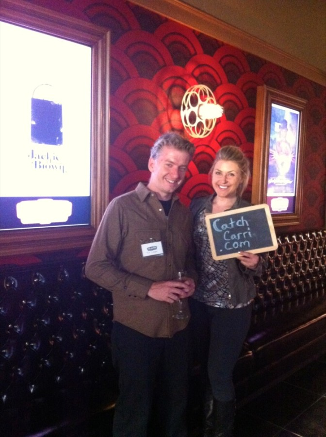 Carri Wilbanks with Founder &amp; CEO of Alamo Drafthouse, Tim League.