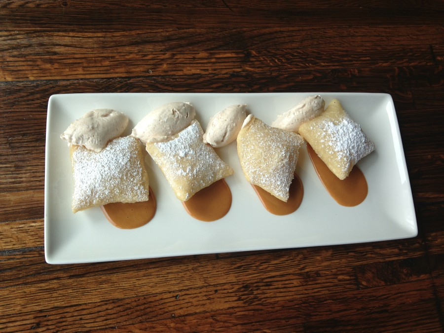 Linger Serves Sopapillas: Cinnamon Whipped Cream &amp; Dulce De Leche ($8)