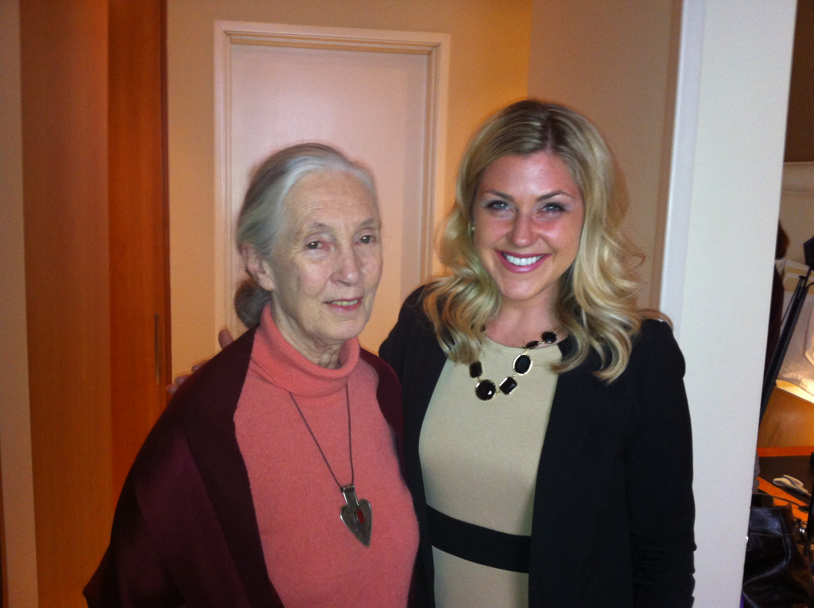 Carri Wilbanks with Dr. Jane Goodall