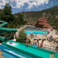 Water Slides at the Glenwood Hot Springs Pool Drop 47 Feet. Courtesy: Glenwood Hot Springs