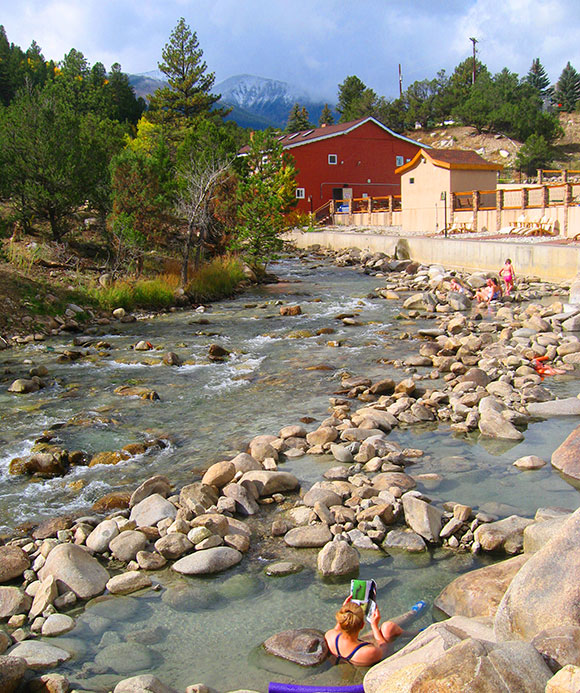 Relax your body and mind in the Salida Hot Springs Pool
