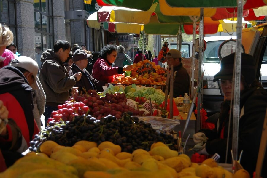 Fruit stand in Chinatown