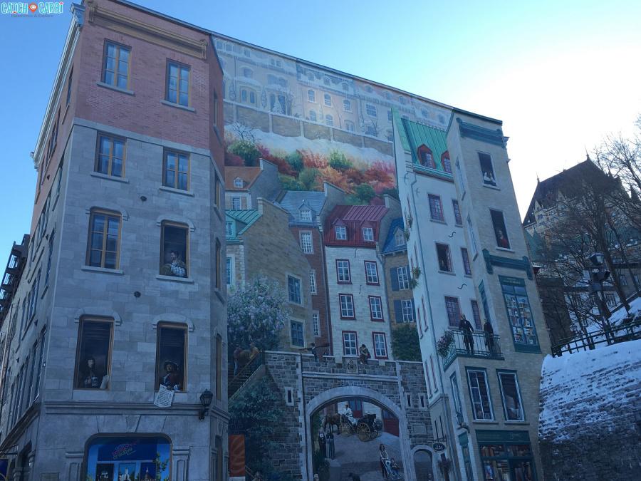 mural in quebec