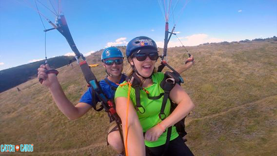 twin paragliding in golden colorado
