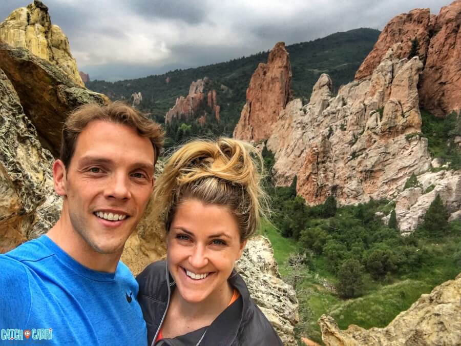 hiking and exploring Colorado Springs