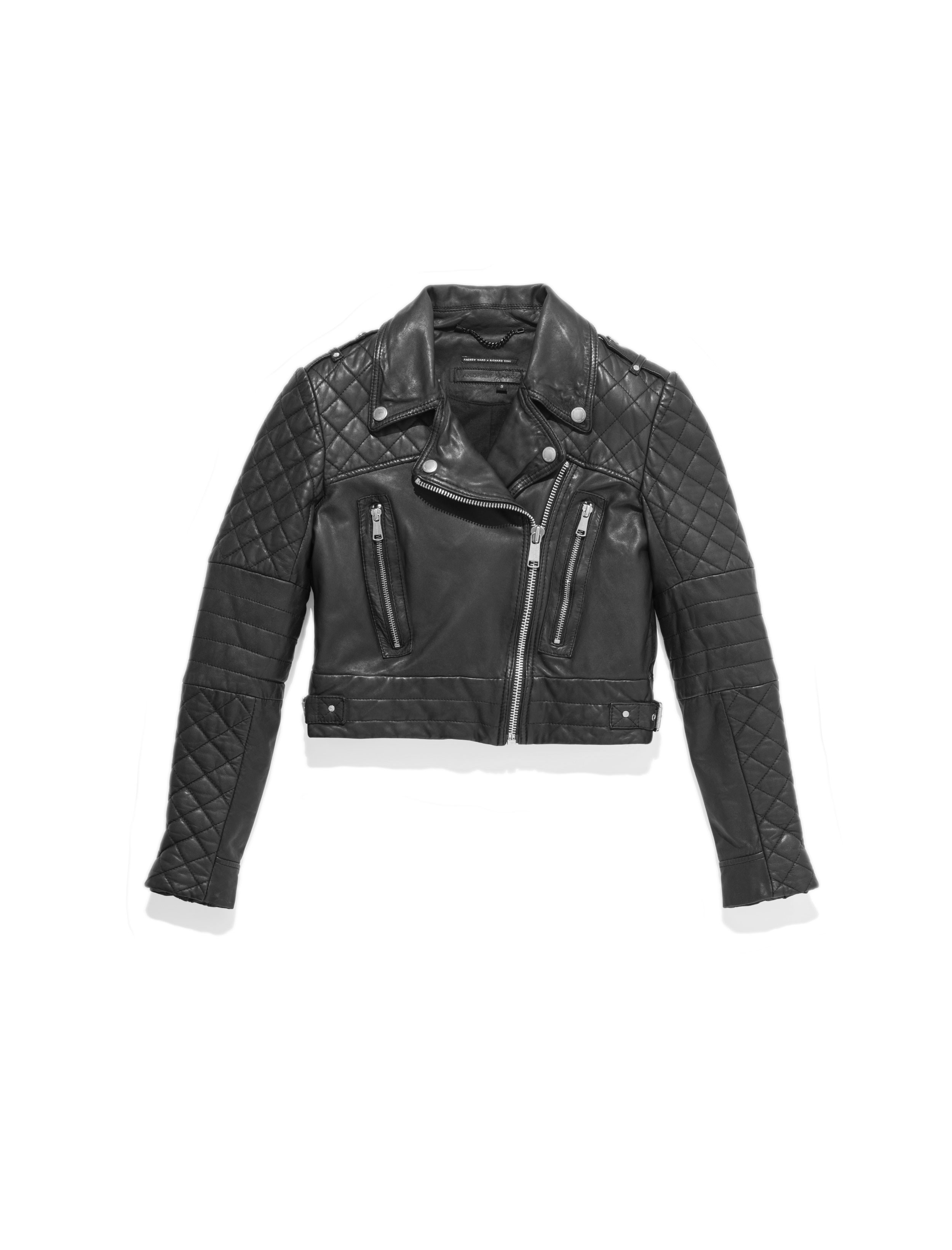 leather fitted people clothing in s jacket lyst women free and rug rugged black