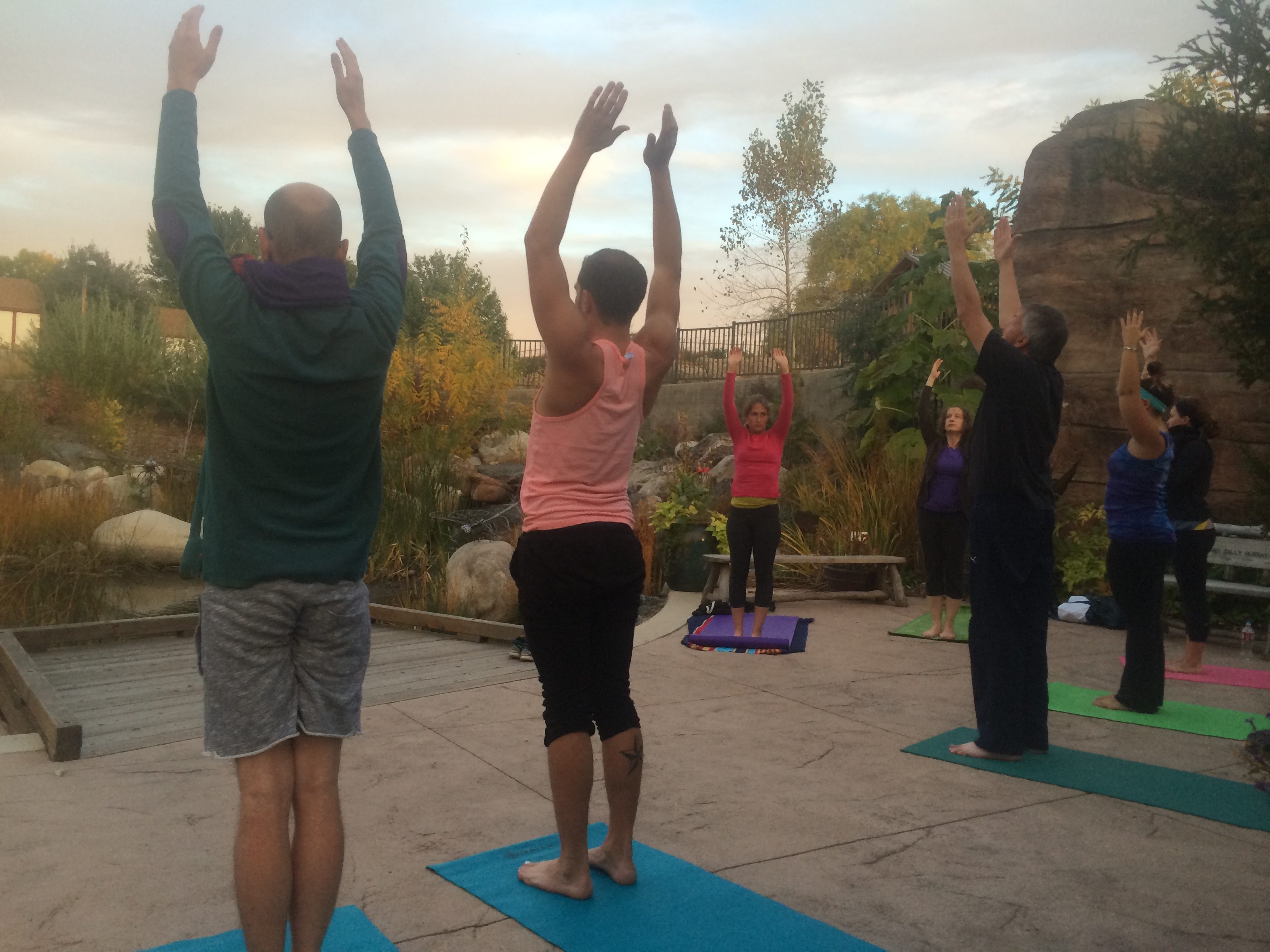 Evening Vinyasa Yoga at Denver Botanic Gardens | CatchCarri.com